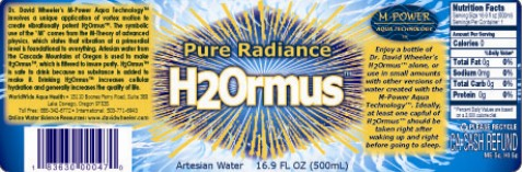 H2Ormus Label