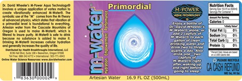 M-Water Label